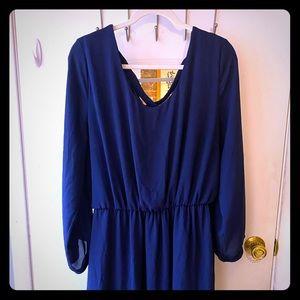 Dark blue long sleeve dress